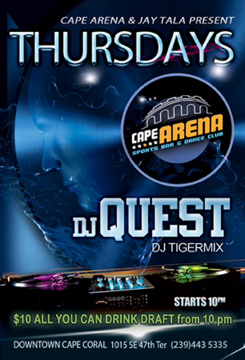 DJ Quest Cape Arena Flyer