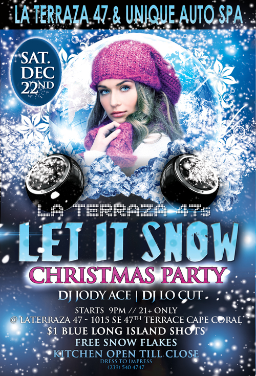Let it snow Party Motto Party Cape Arena Flyer
